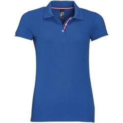 tekstylia Damskie Koszulki polo z krótkim rękawem Sols PATRIOT FASHION WOMEN Azul