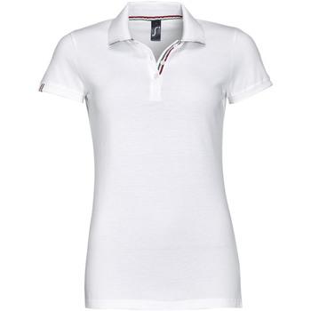 tekstylia Damskie Koszulki polo z krótkim rękawem Sols PATRIOT FASHION WOMEN Blanco