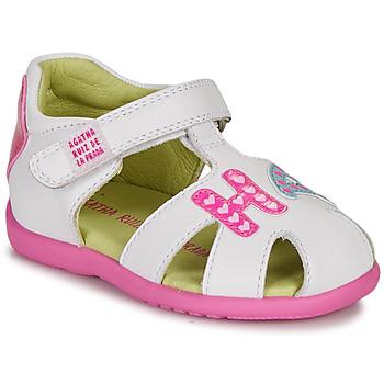 Buty Dziewczynka Sandały Agatha Ruiz de la Prada HAPPY Biały / Różowy