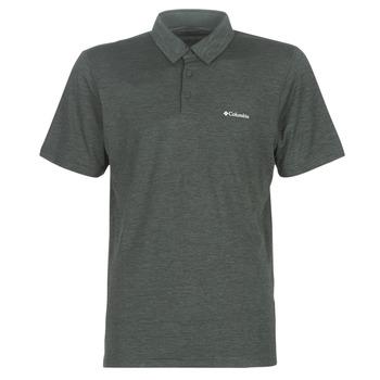 tekstylia Męskie Koszulki polo z krótkim rękawem Columbia TECH TRAIL POLO Szary