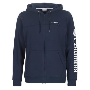 tekstylia Męskie Bluzy Columbia COLUMBIA LOGO FLEECE FULL ZIP Niebieski