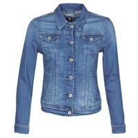 tekstylia Damskie Kurtki jeansowe Pepe jeans THRIFT Niebieski / Medium / Hb6