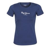 tekstylia Damskie T-shirty z krótkim rękawem Pepe jeans NEW VIRGINIA Marine