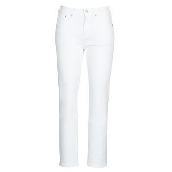 tekstylia Damskie Jeansy straight leg Pepe jeans MARY Biały