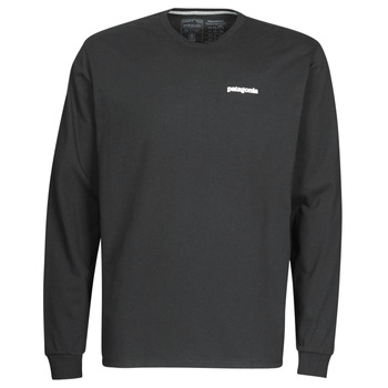 tekstylia Męskie T-shirty z długim rękawem Patagonia M's L/S P-6 Logo Responsibili-Tee Czarny