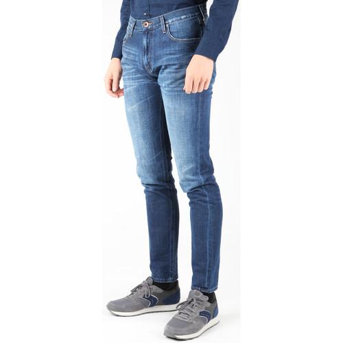 Lee Jeansy Arvin L732asjo Granatowy - Tekstylia Slim Fit Meskie 28509 Najniższa Cena