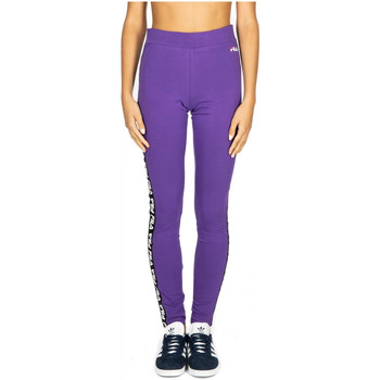tekstylia Damskie Spodnie dresowe Fila WOMEN PHILINE leggings a033-tillandsia-purple