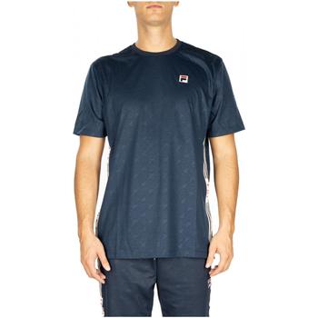 tekstylia Męskie T-shirty i Koszulki polo Fila MEN NARIMAN AOP tee 170-black-iris