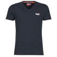 tekstylia Męskie T-shirty z krótkim rękawem Superdry ORANGE LABEL VNTGE EMB VEE TEE Eclipse / Navy