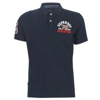 tekstylia Męskie T-shirty z krótkim rękawem Superdry CLASSIC SUPERSTATE S/S POLO Niebieski