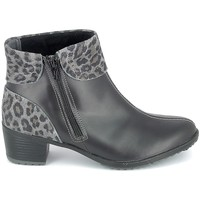Buty Damskie Botki Boissy Boots Noir Leopard Czarny