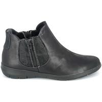Buty Damskie Buty za kostkę Boissy Boots Noir texturé Czarny