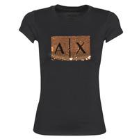 tekstylia Damskie T-shirty z krótkim rękawem Armani Exchange HONEY Czarny