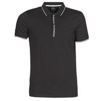 tekstylia Męskie Koszulki polo z krótkim rękawem Armani Exchange HANEMO Czarny