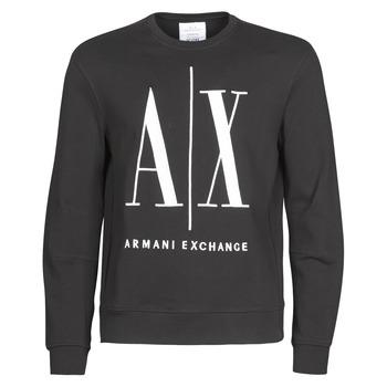 tekstylia Męskie Bluzy Armani Exchange HELIX Czarny