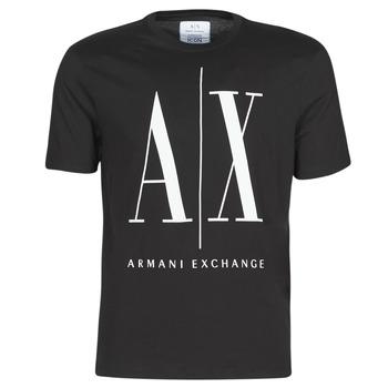 tekstylia Męskie T-shirty z krótkim rękawem Armani Exchange HULO Czarny