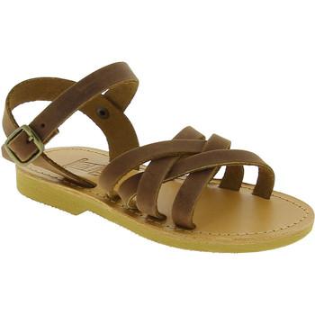 Buty Dziewczynka Sandały Attica Sandals HEBE NUBUK DK BROWN Brązowy