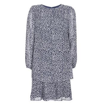 tekstylia Damskie Sukienki krótkie Lauren Ralph Lauren Alois Marine / Biały