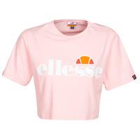 tekstylia Damskie T-shirty z krótkim rękawem Ellesse ALBERTA Różowy