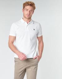 tekstylia Męskie Koszulki polo z krótkim rękawem U.S Polo Assn. INSTITUTIONAL POLO Biały