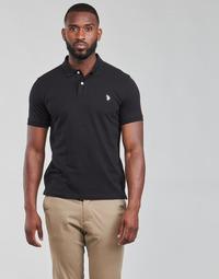 tekstylia Męskie Koszulki polo z krótkim rękawem U.S Polo Assn. INSTITUTIONAL POLO Czarny