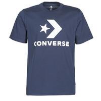 tekstylia Męskie T-shirty z krótkim rękawem Converse STAR CHEVRON TEE Niebieski
