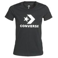 tekstylia Damskie T-shirty z krótkim rękawem Converse STAR CHEVRON TEE Czarny