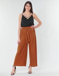tekstylia Damskie Spodnie z lejącej tkaniny / Alladynki Moony Mood MERONAR Rouille