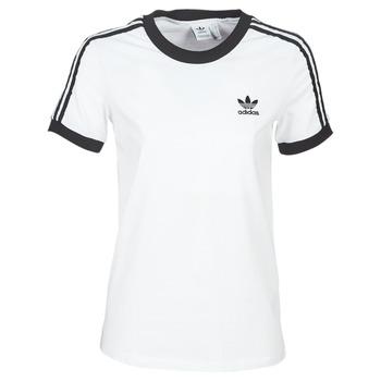 tekstylia Damskie T-shirty z krótkim rękawem adidas Originals 3 STR TEE Biały