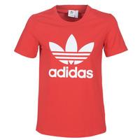 tekstylia Damskie T-shirty z krótkim rękawem adidas Originals TREFOIL TEE Czerwony / Luxuriant