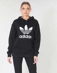 tekstylia Damskie Bluzy adidas Originals TRF HOODIE Czarny