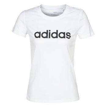 tekstylia Damskie T-shirty z krótkim rękawem adidas Performance E LIN SLIM T Biały