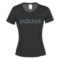 tekstylia Damskie T-shirty z krótkim rękawem adidas Performance D2M LO TEE Czarny