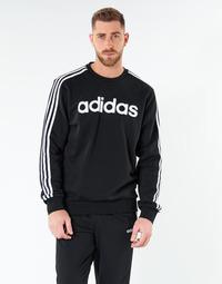 tekstylia Męskie Bluzy adidas Performance E 3S CREW FL Czarny
