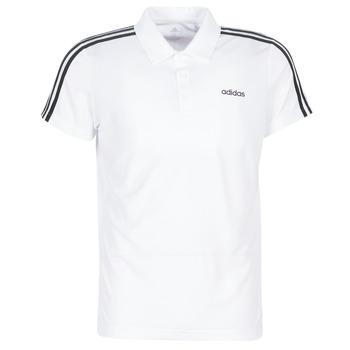 tekstylia Męskie Koszulki polo z krótkim rękawem adidas Performance M D2M CLA 3S PO Biały