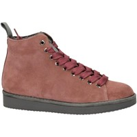 Buty Damskie Trampki wysokie Panchic P01 MID CUT SUEDE LINING ECO FUR brownrose-rosa