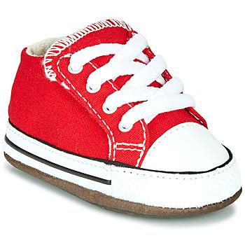 Buty Dziecko Trampki wysokie Converse CHUCK TAYLOR ALL STAR CRIBSTER CANVAS COLOR Czerwony