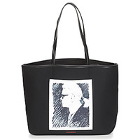 Torby Torby shopper Karl Lagerfeld KARL LEGEND CANVAS TOTE Czarny