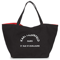Torby Damskie Torby shopper Karl Lagerfeld RUE ST GUILLAUE CANVAS TOTE Czarny
