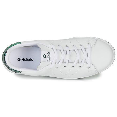 Victoria TENIS PIEL SERPIENTE Biały / Niebieski - Bezpłatna dostawa