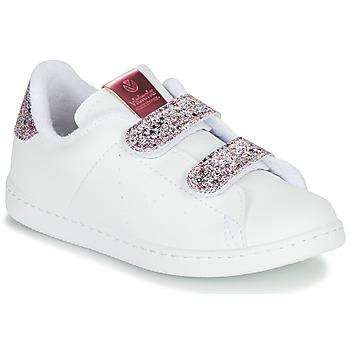 Buty Dziewczynka Trampki niskie Victoria TENIS VELCRO G Biały