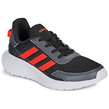 Buty Chłopiec Trampki niskie adidas Performance TENSAUR RUN K Czarny / Czerwony
