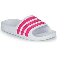 Buty Dziewczynka klapki adidas Performance ADILETTE AQUA K Biały / Różowy