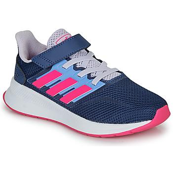 Buty Damskie Trampki niskie adidas Performance RUNFALCON C Niebieski / Różowy