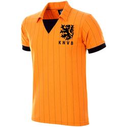 tekstylia Męskie T-shirty z krótkim rękawem Copa Football Maillot rétro Pays-Bas 1983 orange