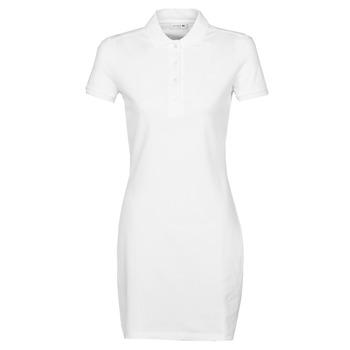 tekstylia Damskie Sukienki krótkie Lacoste EUGENIE Biały