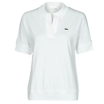 tekstylia Damskie Koszulki polo z krótkim rękawem Lacoste BERRY Biały