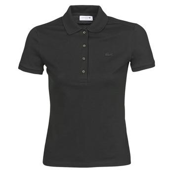 tekstylia Damskie Koszulki polo z krótkim rękawem Lacoste PH5462 SLIM Czarny
