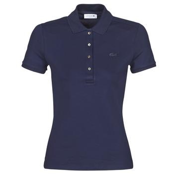 tekstylia Damskie Koszulki polo z krótkim rękawem Lacoste PH5462 SLIM Marine