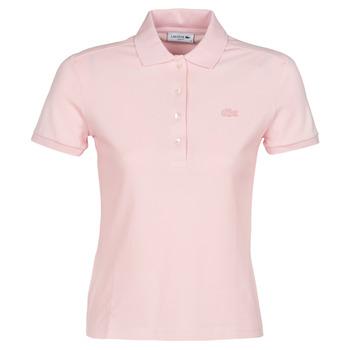 tekstylia Damskie Koszulki polo z krótkim rękawem Lacoste PH5462 SLIM Różowy